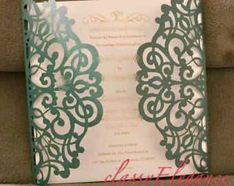Laser cut invitations  (invitation Inserts, Save the date, Thank you Cards etc.)