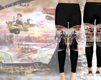 Steamed Away - Leggings - Steam Punk
