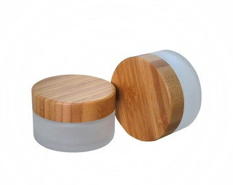 Empty Glass Jar with Bamboo Cap - 50g