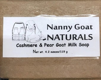 Cashmere and Pear Goat Milk Soap