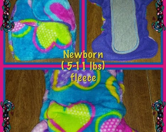 Newborn Size Fitted cloth diaper