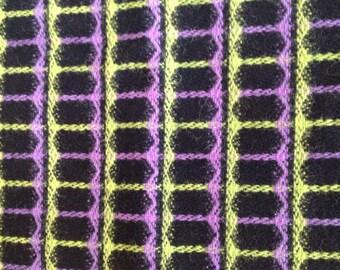 1960s wool skirt fabric retro colourway.