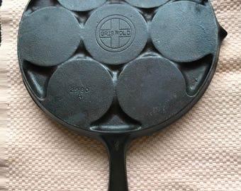 Vintage Griswold Cast Iron Plett Pan No 34 2980A