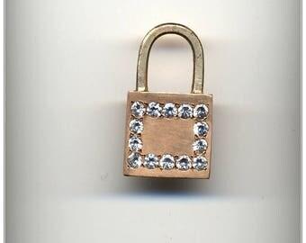 Padlock BDSM Emblem Handmade Pendant, BDSM  Symbol pendant, 14 k (585) gold, Unisex
