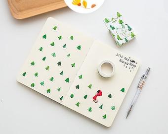 Forest Japanese Washi Tape,Masking Tape, Decorative Tape, Planner Sticker, Journal Sticker, Green Forest, Kawaii Stationery,Plant