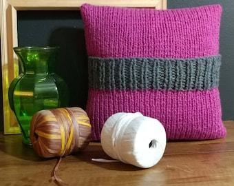 fuchsia decorative pillow cover, throw pillow, pillows, sofa, accent pillow, decorative pillow for couch, cushion, pillow cover 14x14,