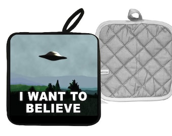 X-Files I Want to Believe Pot Holder