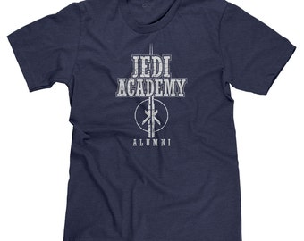 Jedi Academy Alumni Star Wars The Force Yoda Obi-Wan Kenobi Darth Vader Funny Parody T-shirt Tee
