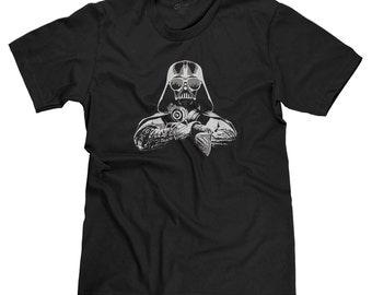 DJ Darth Vader Star Wars Dark Side The Force Funny Parody T-shirt Tee