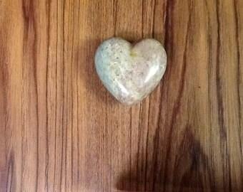 Polished Stone Heart Rock