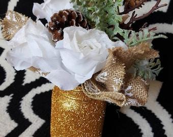 Glitter Decorative Jar