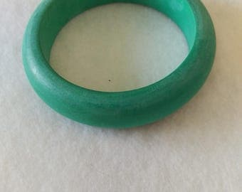 Jade Stained Wood Bangle