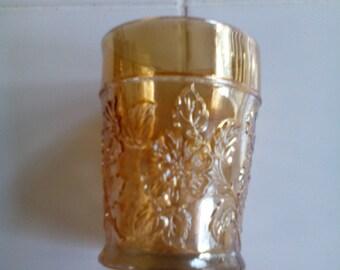 Carnival Glass Tumbler - Rambler Rose