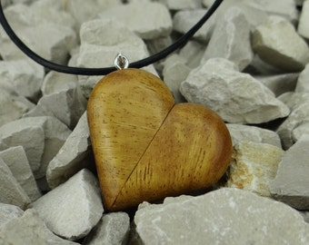 Illusionist Locket Heart Shaped Movingui Necklace magic wooden silver