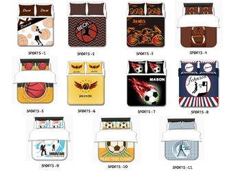 Sports  Bedding,  Sports Bedding Toddler, Twin, Queen, King, Toddler Bedding Set, Toddler Bedding Set Boy, Toddler Bedding Boy