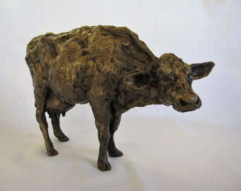 Cow in Bronze Resin/Dairy Cow/Cow Sculpture