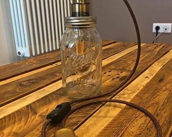 Mason Ball jar lamp