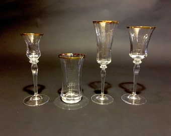 Fluted rim etsy - Lenox gold rimmed wine glasses ...