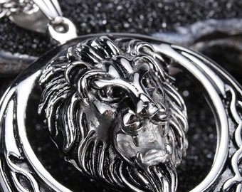 Large Necklace Top Quality Leon Stainless Steel Pendant & Chain   SS33338