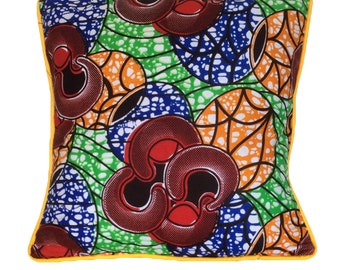 16 x 16 inch African Fabric Cushion Cover.