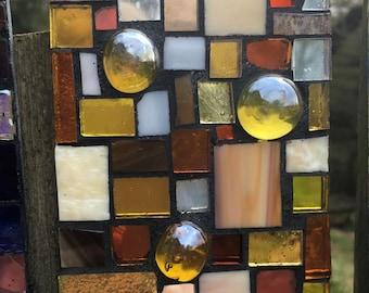 Glass Mosaic Garden Tile, 16
