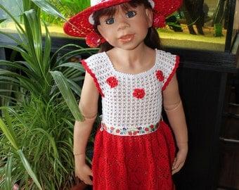 Dress * * The red poppy * * Set: Dress + Hat