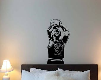 Michael Jordan Wall Decal Air 23 Basketball Sport Gym Vinyl Sticker Home  Boy Bedroom Decor Nursery Part 53