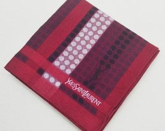 FREE SHIPPING!!! Yves Saint Laurent YSL Hanky Handkerchief