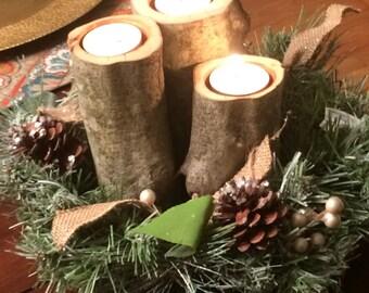Birch Candle Holder Set (set of 3)