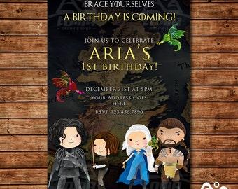 Game of Thrones Invitation, Game of Thrones Birthday, GoT Invitation, GoT Birthday
