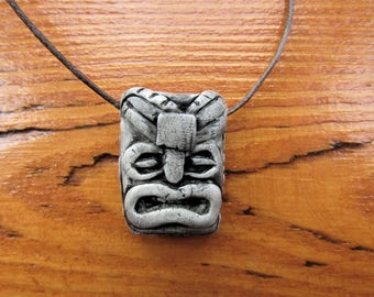 Scrubs inspired polymer clay Tiki necklace