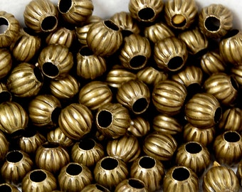 200 beads, Antique Bronze Spacer beads