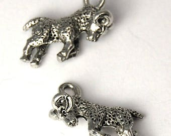 2pc, Aries Charm, Pewter