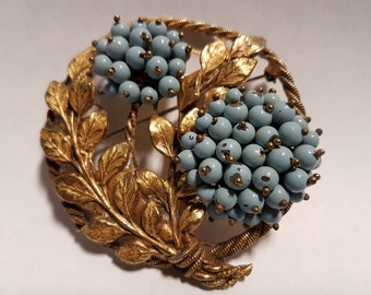 Art Nouveau Brooch with Enamel Beads