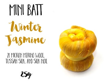 Mini Batt - 25g - 0.88oz - Batt Sample - WINTER JASMINE