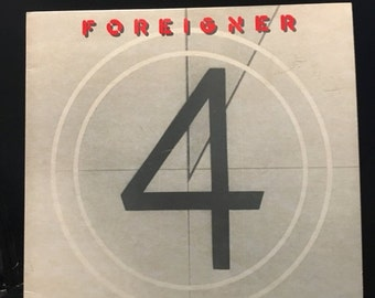 ON SALE Vintage 1981 Foreigner 4 Vinyl Record Good Condition