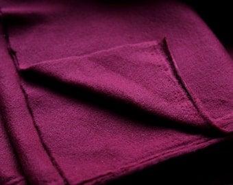 Fleece/pile fabric. 50x50 cm. Dark burgundy colour