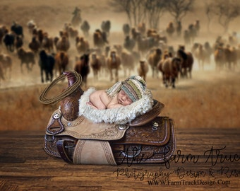 Newborn digital backdrop, newborn digital background, saddle, horse , farm background, horse background, cowboy background, cowgirl, country