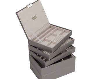 Stackers Set of 5 Mink & Grey Stacker Jewellery Trays LCSET5GREY