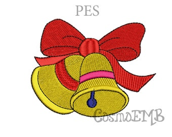 Christmas Bells Embroidery design  PES Format Machine Embroidery - Digital INSTANT DOWNLOAD