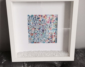 Don't Stop Believin' Print with Frame