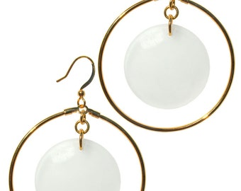 Edie Sedgwick Inspired factory Girl Hoop Earrings