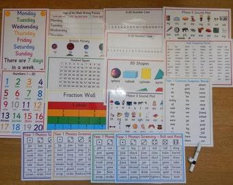 Year 1 Learning Bundle - Literacy/numeracy/shapes/addition/money/KS1