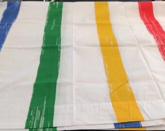 marimekko bold stripes primary colors full sheet red yellow blue green white