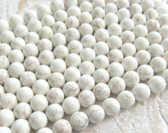 6mm frosted Magnesite, 6mm magnesite beads, full strand, A quality, Matte Magnesite, frosted white beads, magnesite strand, bracelet beads