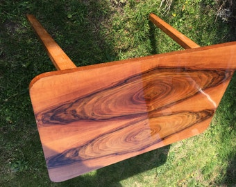 Walnut folding coffee table
