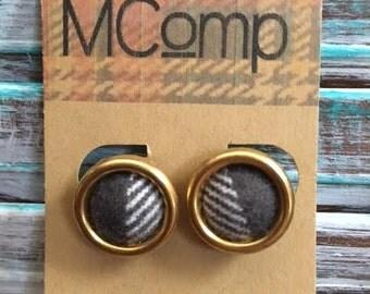 Flannel Button Earrings
