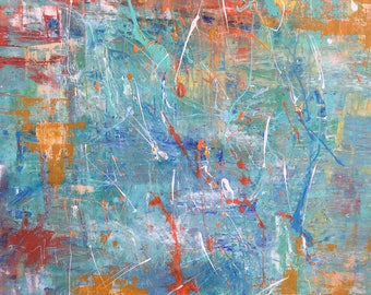 30x24 Blue Abstract Painting
