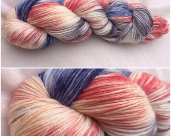 Hand dyed sock yarn MCN - Shrimply Divine
