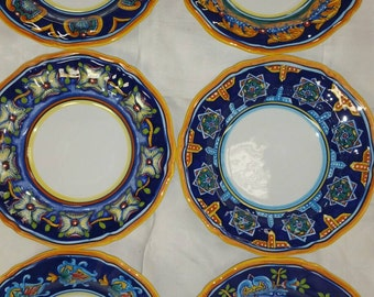 Deruta pasta/soup bowls Hand Painted by Eugenio Ricciarelli